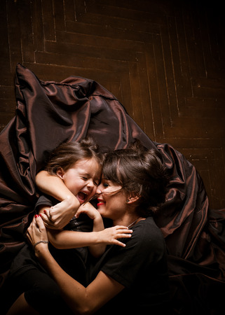 25 35: Mom and daughter Stock Photo