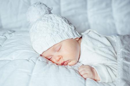 sweetly: little baby sleeping sweetly