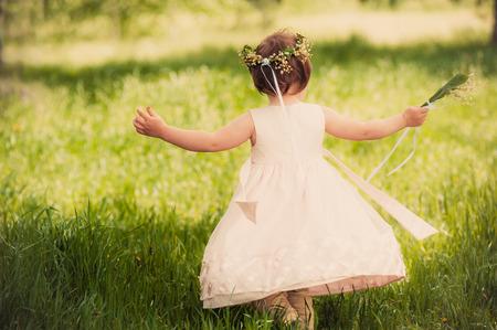 funny girl outdoors childhood photo