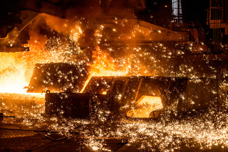burningout: blast furnace with sparks