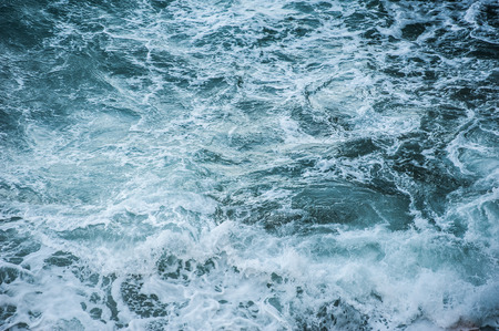 ultramarine blue: Sea waves during a storm