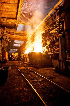 ferrous: Production process in the steel mill