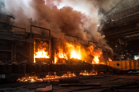 ferrous foundry: Accident at a steel mill