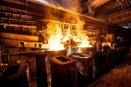 ferrous: Liquid steel in the tanks