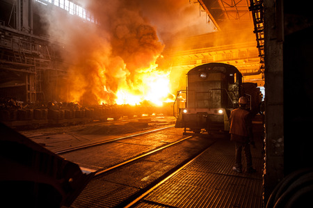 ferrous: The production process in the steel mill
