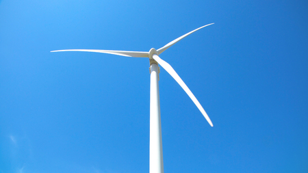 Windmill for electric power production closeup