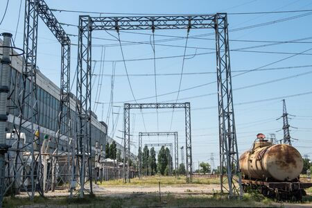 On the territory of the Thermal Power Plant outdoor