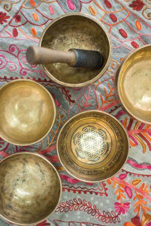 Tibetan singing bowls for meditation