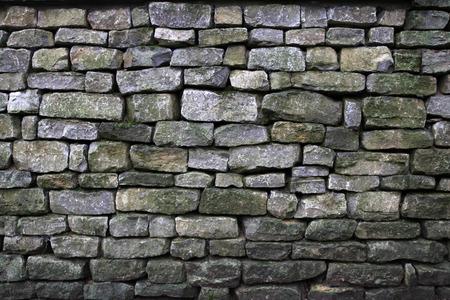 chink: Stone wall Stock Photo