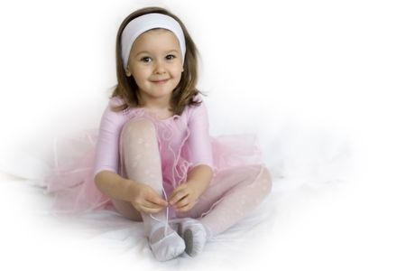 sweet ballerina girl Stock Photo