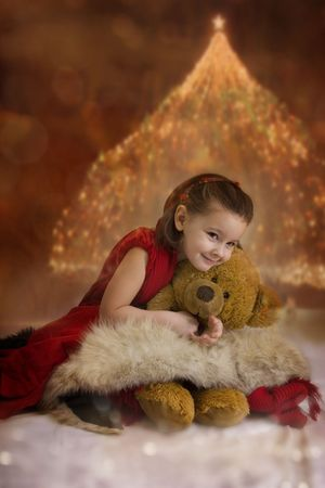 Sweet Christmas princess Stock Photo - 3681315