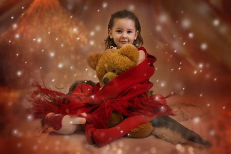 Sweet Christmas princess Stock Photo - 3681313