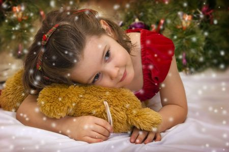 Sweet Christmas princess Stock Photo - 3681372