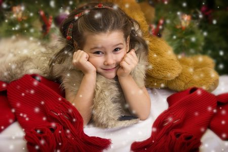 Sweet Christmas princess Stock Photo - 3681397