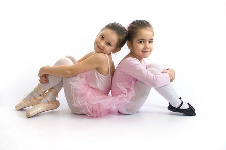 ballet ni�as: Dulces bailarinas Foto de archivo