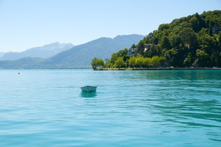 Lake Annecy in Frech Alps