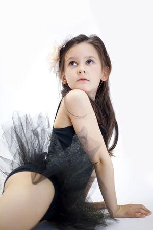 animal tutu: sweet little ballerina girl Stock Photo
