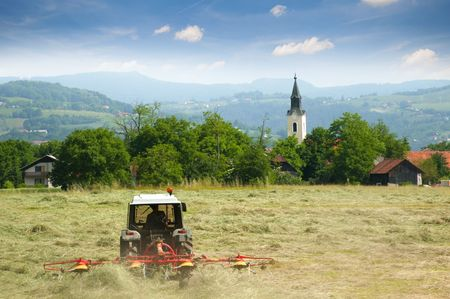 Country landscape view photo