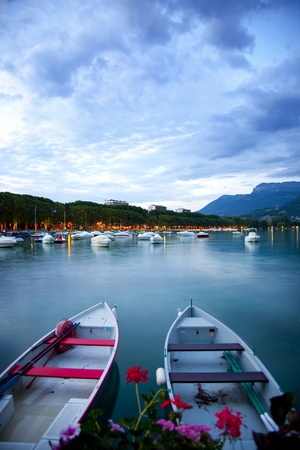 French Alps, Annecy lake during the evening Stock Photo - 10117524