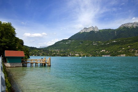 View from lake Annecy in French alps Stock Photo - 10317873
