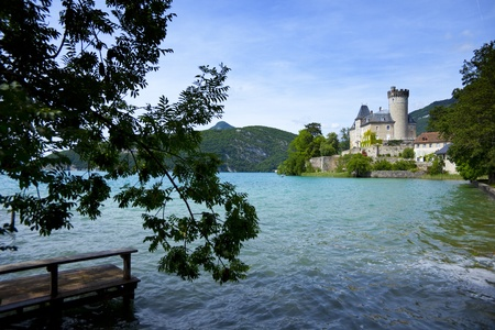 View from lake Annecy in French alps
