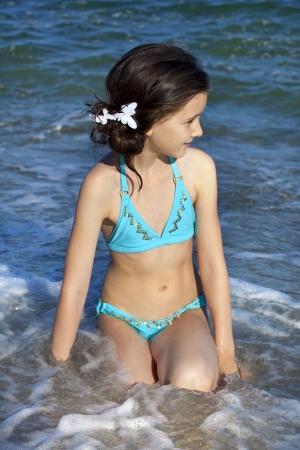 Sweet little girl on the beach