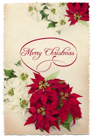Vintage Xmas post card Stock Photo - 16022523