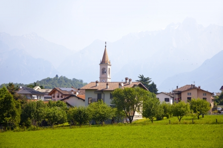 Landscape view fromColico village on the famous Italian lake Como