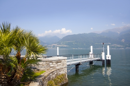 lake como: Landscape view from the coast near Colico village on te famous Italian lake Como  Stock Photo