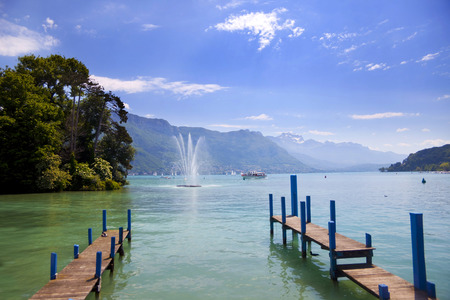 Lake Annecy, France, region Haute Savoie Stock Photo - 28119845
