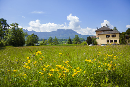 Landscape view from Tirol, Austria Stock Photo