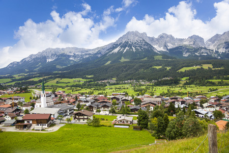 Ellmau, Austria, Wilder Kaiser mountain Stock Photo - 78581301