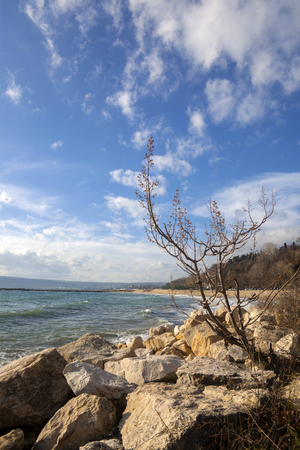 Landscape view from Varna bay, Bulgaria