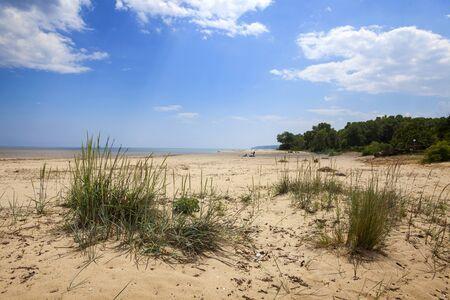 Landscape view from Black sea coast in Bulgaria, Kamchia beach, near Varana city Stock Photo