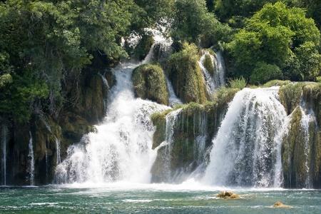 dalmatia: Krka waterfall in Dalmatia  Croatia