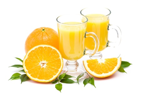 orange juice and some fresh fruits photo