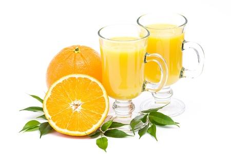 orange juice and some fresh fruits photo