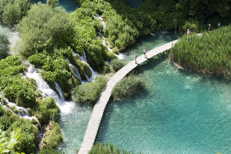 the national park plitvicka lake - Croatia photo