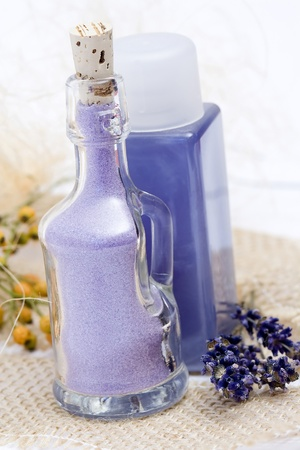 lavender spa products Stock Photo - 12713280