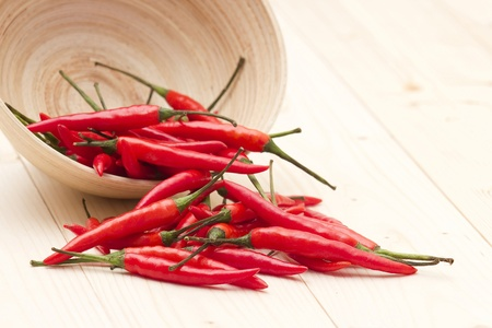 red chili peppers in a bowl photo