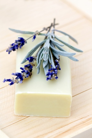 bar of natural soap photo