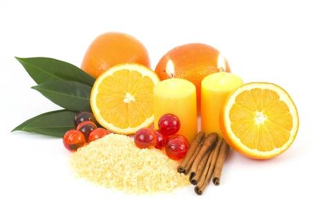 sól do kąpieli pomarańczowy ze świeżych owoców - zabiegi kosmetyczne Zdjęcie Seryjne