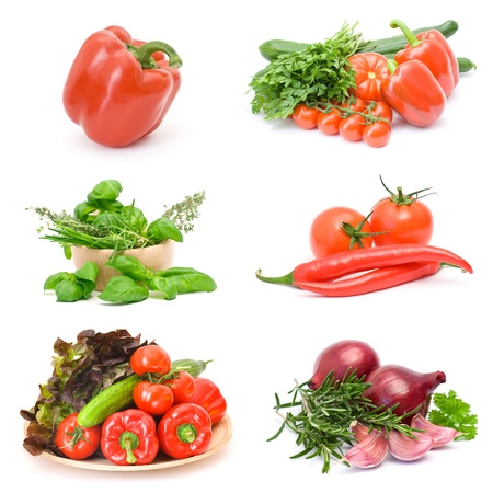 vegetables collections Stock Photo