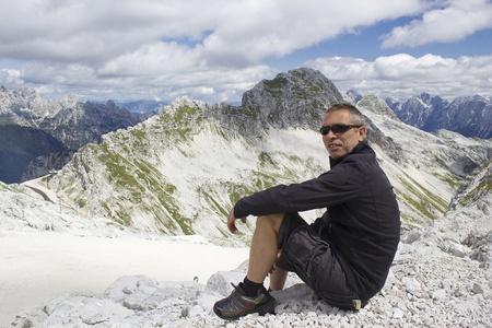 julian: tourist in the Julian Alps (Slovenia)