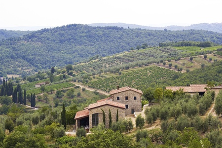 typical tuscan house photo