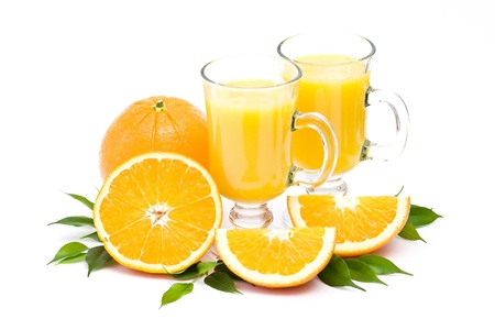 orange juice and some fresh fruits Stock Photo - 13033380