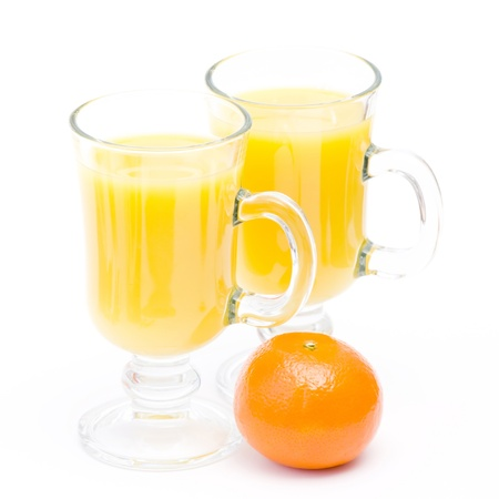 orange juice and some fresh fruits Stock Photo - 13033352