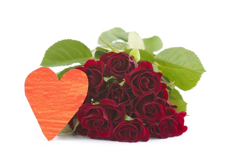 red roses and heart Stock Photo - 13105920