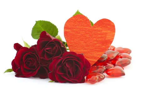 red roses and hearts Stock Photo - 13105917