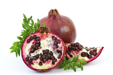 fresh pomegranate fruits photo